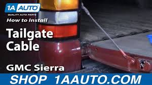 How To Replace Tailgate Cables 99-06 GMC Sierra | 1A Auto