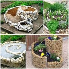 diy rock garden ideas garden charming light brown round contemporary stone garden ornamental spiral herb garden ideas making rock garden ideas