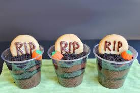 hair raising halloween party food ideas mum s grapevine make your own pudding cups or buy pre made to make these cute little graveyards