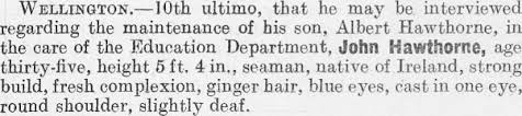 Papers Past | Magazines and Journals | New Zealand Police Gazette | 18  January 1928 | PERSONS WANTED.
