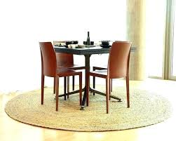 round rugs under kitchen table size of area rug under dining table what size rug under