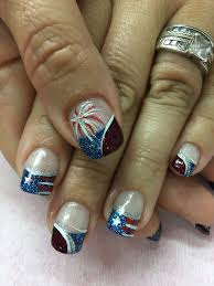 Gel Nail Designs For 4th Of July 4th Of July Patriotic French Gel Nails Gel Nails French