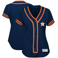 Women's Houston Astros Majestic Navy/Orange Absolute Victory Fashion Team  Jersey