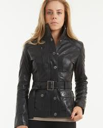 more views black leather jacket for girls