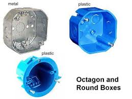 octog and round electrical junction boxes