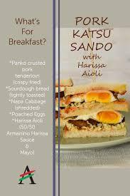 Pork Katsu Sando with Armanino Harissa Aioli Sauce
