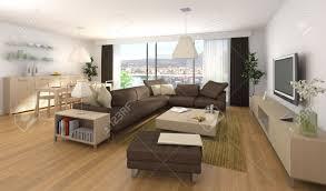 Interieur Design Scãne Van Modern Appartement Met Woonkamer En