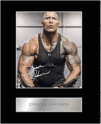 Dwayne johnson first rose to fame as the rock, a popular wrestling personality. Amazon Com Iconic Pics Dwayne Johnson Signed Mounted Photo Display Home Kitchen