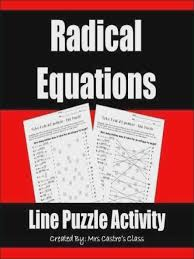 this worksheet is a fun way for your students to practice solving radical equations students solve