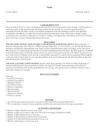 Finance Resume Sample Pdf Financial Analyste Sample For Of Your Objective Analyst Resume 2