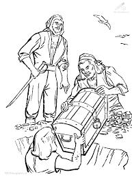 1001 Kleurplaten Fantasie Piraat Kleurplaat Piraat Schatkist