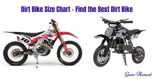 Dirt Bike Tire Size Chart Dirt Bike Size Chart Find The Best Dirt Bike For You