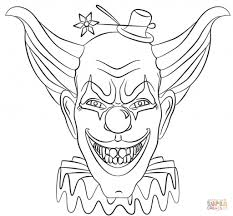 Small Picture Scary Clown Coloring Pages Fun for Halloween