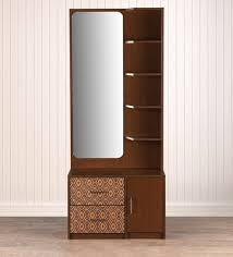 Nebula Dressing Table with Mirror in Coffe Brown Finish by HomeTown