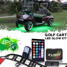 Golf Cart Underbody Lights Us 53 99 X Light Golf Cart Underbody Glow Led Lighting Kit 18 Full Color Accent Neon Strips W Switch Music Active Brake Mode 4x 24