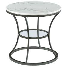 white round end table. Hammary Impact Marble Top Round End Table - Item Number: 576-918 White