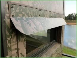 low cost custom windows for deer blinds