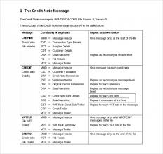Sample Credit Note Invoice Credit Note Sample Format 19 Credit Note Templates Word