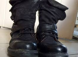 Air Step As98 Black Leather Lace Up Boots With Zip And Buckle For Sale in  Schull, Cork from polly.barrett.5