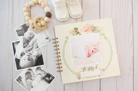 Baby Photo Album Books Watercolor Floral Baby Book The Mombot