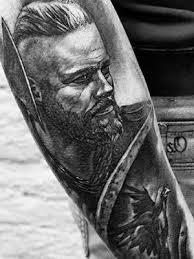 Tetovani Realisticke Cernobile Viking Predlokti Black House Tattoo