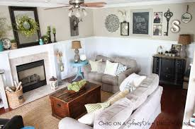 chic living room. Farmhouse Chic Living Room For On A Shoestring Decorating My L 8bf7a9c5ae62310b