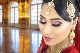 red indian bridal y eye makeup tutorial traditional asian stani wedding reception walima you