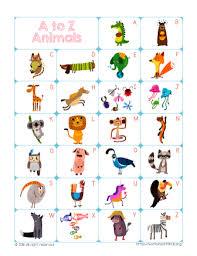 Animal Abc Chart Printable Abc Chart For Preschool Www Bedowntowndaytona Com