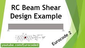 By Shear Design Course Eurocode 2 Design Of Concrete Structures