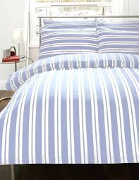 blue and white striped duvet cover blue white stripe flannelette bedding duvet cover set 3 sizes