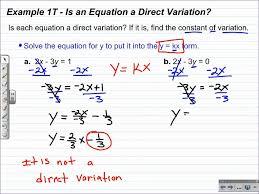 direct variation form algebra 1 lesson 5 5 direct variation youtube