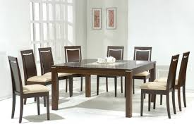 Dark Walnut Modern Dining Table W Glass Inlay Amp Optional Chairs - Kitchen dining room table and chairs