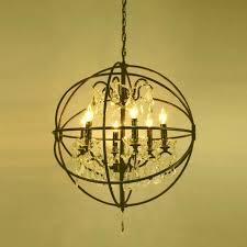 restoration hardware orb light linear crystal chandelier restoration full image