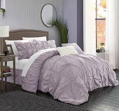 chic home 6 piece halpert fl pinch pleat ruffled designer embellished comforter set