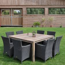 COSMOS Table en acacia FSC 150x150 Taupe/Chocolat - Achat / Vente ...