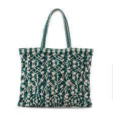 <b>Сумка</b>-<b>шоппер</b> из макраме экрю/ зеленый <b>La Redoute</b> Collections ...