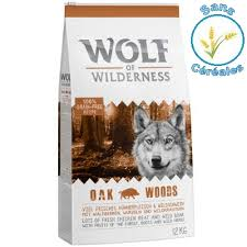Avis Wolf of Wilderness adult oak woods sanglier chien
