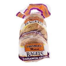 thomas bagels cinnamon raisin pre sliced 6 ct