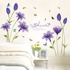flower wall stickers erfly letter