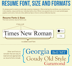 Resume Font Size Standard Best Font For Resume 2016