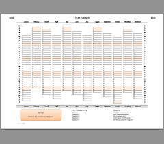 Planner 2020 Template Year Planner Template 2020 Excel Printable File Infozio