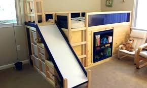 bunk bed with slide and desk. Unique Bed Wood Loft Bed With Slide Stylish Bunk And Desk Luxury  Slides  To Bunk Bed With Slide And Desk I