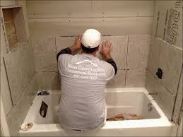 how to install wall tile around tub round designs
