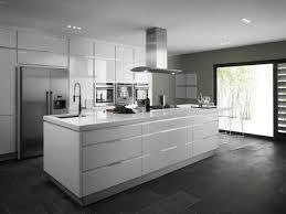 modern white floors. Interior Stunning Modern Kitchen Flooring Immediately Dark Floor Design Wood Floors Black Cupboard Cabinet Grey White U