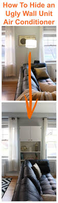 window air conditioner inside. hiding an ugly wall unit air conditioner: ikea billy hack window conditioner inside