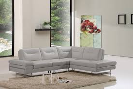 Taupe Living Room Furniture Carmel Modern Taupe Italian Leather Sectional Sofa W Adjustable