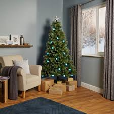 6ft 6In Rockingham Pre-Lit & Pre Decorated Christmas Tree | Departments |  DIY at B&Q.