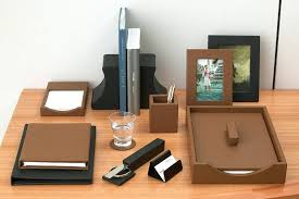brown leather desk accessories best leather desk accessories faux leather desk accessories black