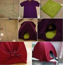 view in gallery old shirt cat tent wonderful diy cat tent bed from old shirt