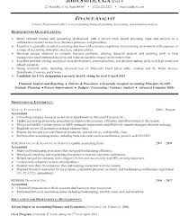 Financial Resume Examples Unique Finance Resume Sample Sample Professional Resume